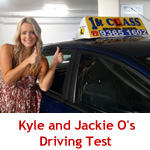 Kyle and Jackie O's Driving Test with 1st Class Driving School